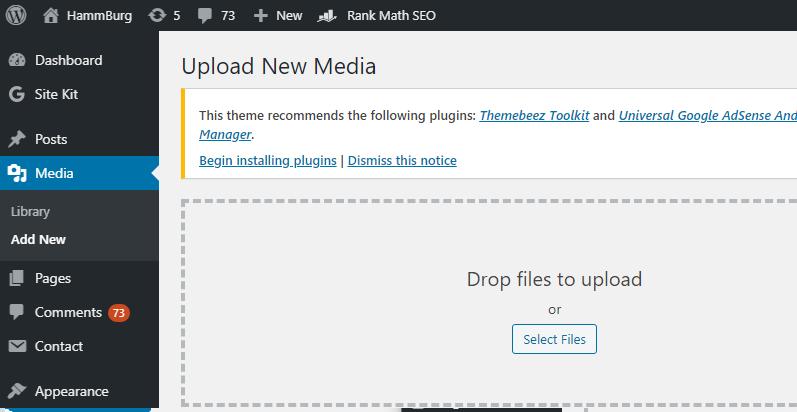 uploading pdf file in WordPress